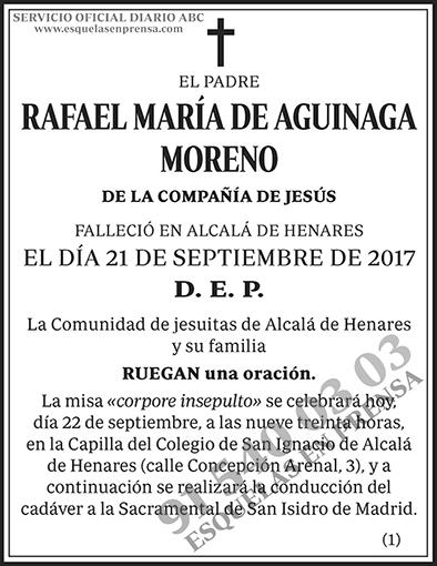 Rafael María de Aguinaga Moreno